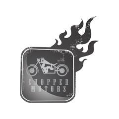 chopper motorcycle fire art
