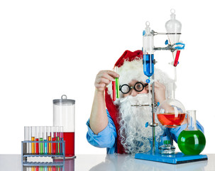 Santa Claus with flasks
