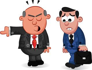 Boss Man Firing an Employee