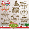 Collection of Christmas design elements