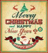 Vintage Retro Merry Christmas Poster