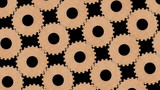 Animated wooden gear wheels background