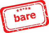 bare word on red rubber grunge stamp