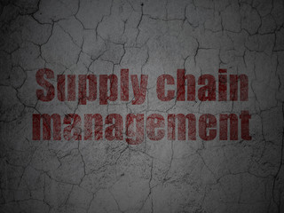 Marketing concept: Supply Chain Management on grunge wall