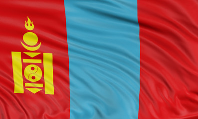 3D flag of Mongolia