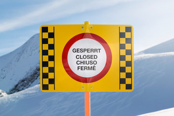 Closed slope sign