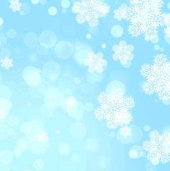 Christmas background of blue color