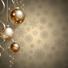 Christmas background with balls