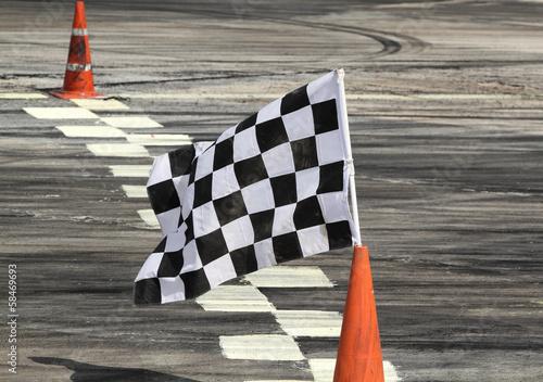 Fototapeta Finish flag