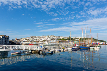 Brixham Devon marina with boats and yachts England Torbay UK