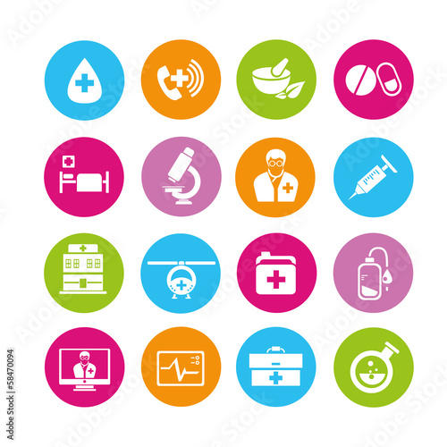 health care icons, medical icons