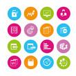 network icons, data analysis icons
