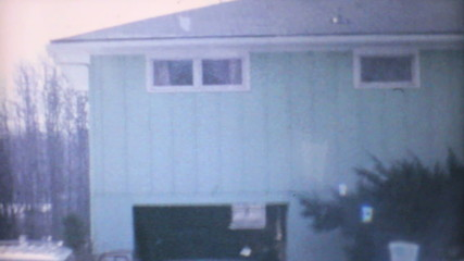 Winter Time In Suburbia-1961 Vintage 8mm film