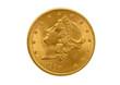 Twenty gold dollars from 1900