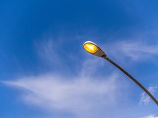 Lampione con cielo