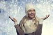 portrait happy winter woman