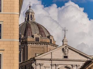 Roma, chiesa del Gesù (part. della facciata)