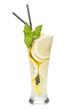 Glasses with homemade lemonade