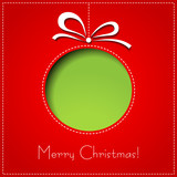Fototapety Vector Merry Christmas Paper greeting card