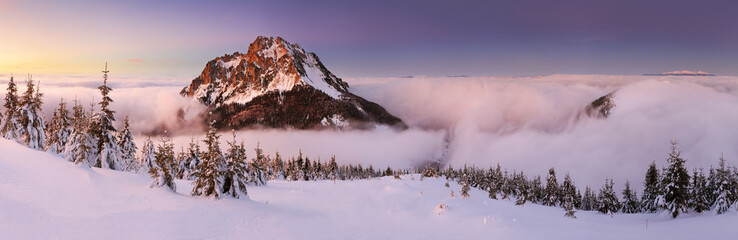 Mountain panorama at winter - Slovakia