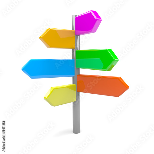 Directionl Arrows Road Sign
