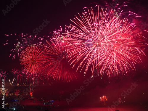 Celebration of the Turkish Republic Day at Istanbul Bosphorus