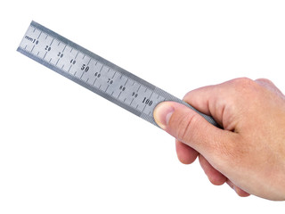 Steel Ruler in Hand