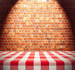 Dining Table on Brick Wall