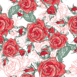 Beautiful Seamless Rose Background