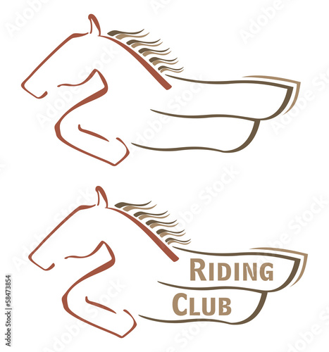 Design with horse for riding club