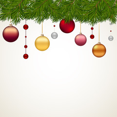 Simply new year background with decor