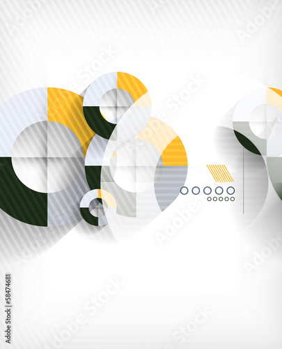 Technology geometric shape abstract background