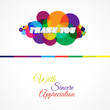 Colorful Abstract Thank You Card Background