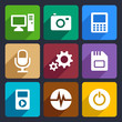 Multimedia flat icons set 9