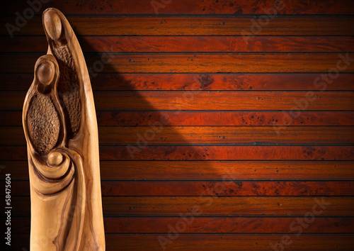 Christmas Nativity Scene on Wood Wall