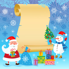 Christmas and New Year card.