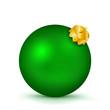 Weihnachtskugel, Christbaumkugel, Dekoration, Deko, Grün, 3D