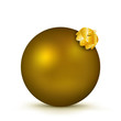 Weihnachtskugel, Christbaumkugel, Dekoration, Deko, Bronze, 3D