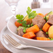 beef stew and vegetables