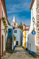 Street view of Obidos - Portugal