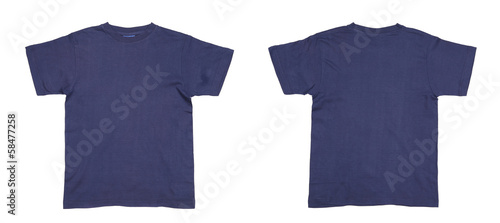 Men's blue T-shirt.