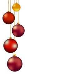 Разноцветные новогодние шары украшения
