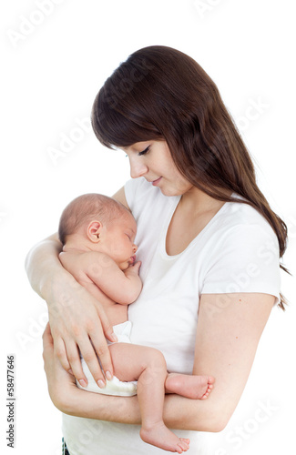 happy mother with  baby infant