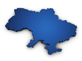Map Of Ukraine 3d Shape