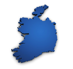 Map Of Ireland 3d Shape