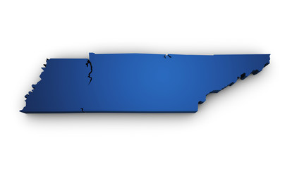 Map Of Tennessee 3d Shape