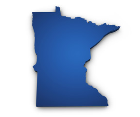 Map Of Minnesota 3d Shape