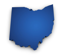 Map Of Ohio 3d Shape