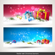 Set of two colorful Christmas banners