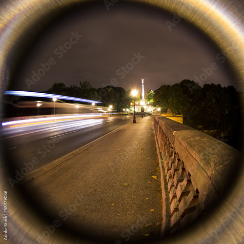 Fisheye Night View of Munich, Germany